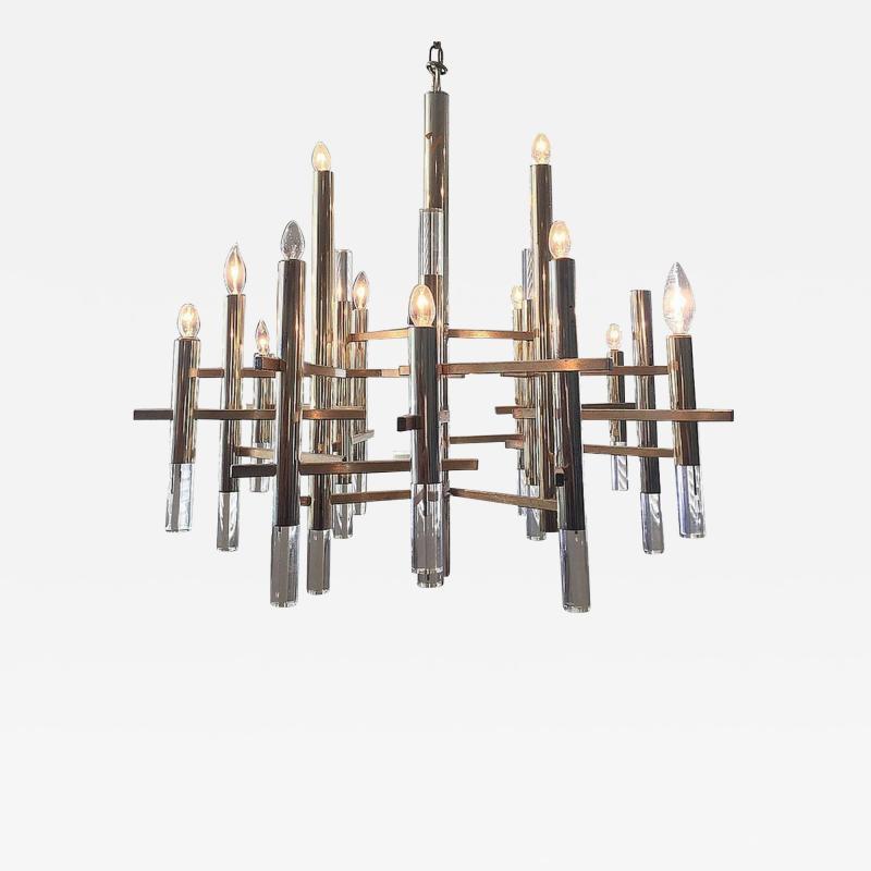 Sciolari Sciolari Chandelier with Brass Accents