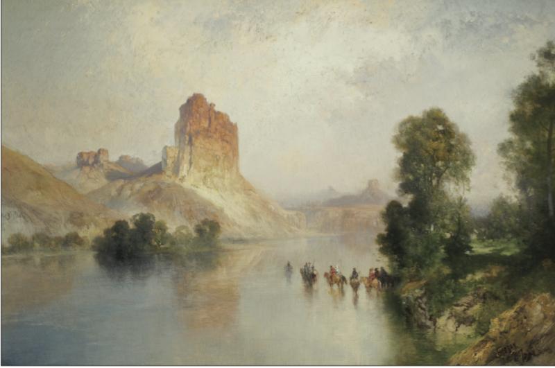 Scottsdale Art Auction Thomas Moran Castle Rock Green River WY