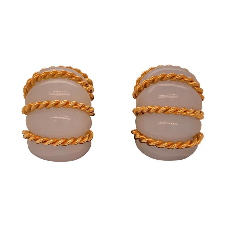 Seaman Schepps Seaman Schepps chalcedony shrimp earrings