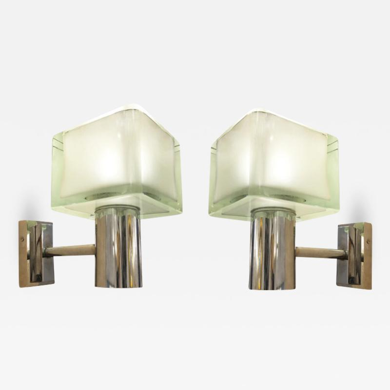 Seguso Pair of Seguso Wall Lights Italy 1960s