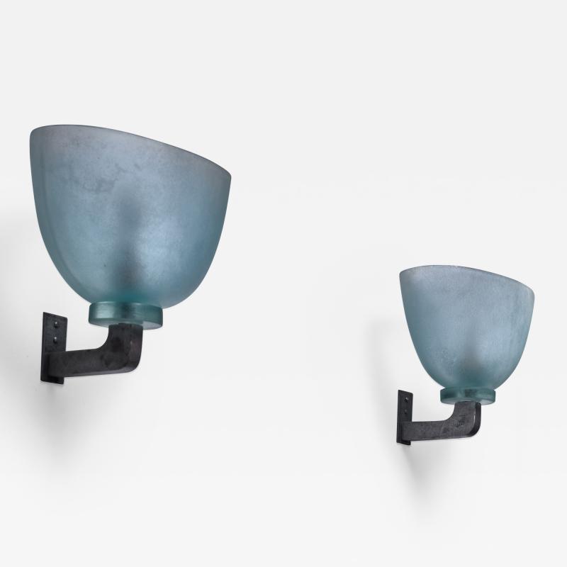Seguso Pair of Seguso wall lamps Italy