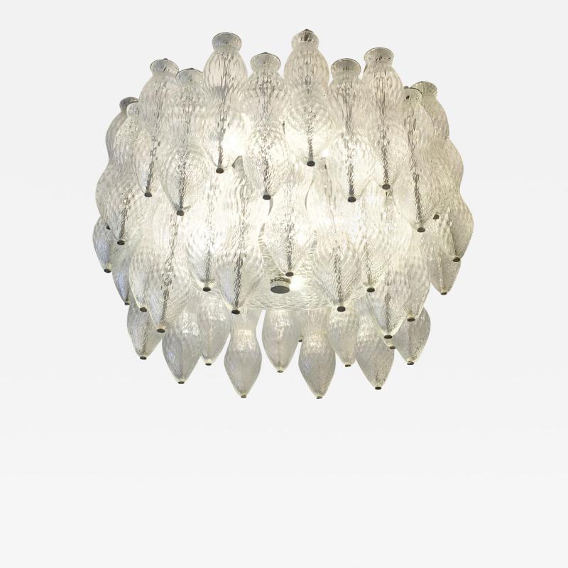 Seguso Seguso Murano Glass Chandelier Italy 1960s