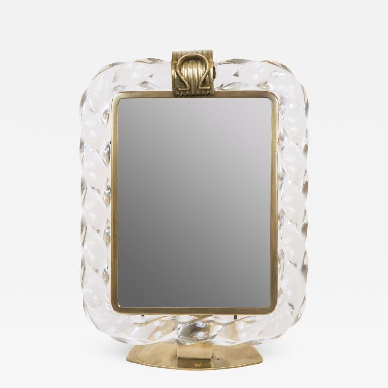 Seguso Vintage Murano Style Table Top Dressing Mirror After Seguso
