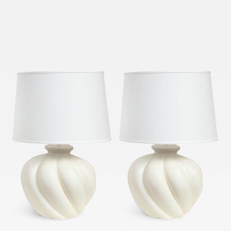 Sirmos Sirmos Pair of Stunning Ceramic Table Lamps 1970s