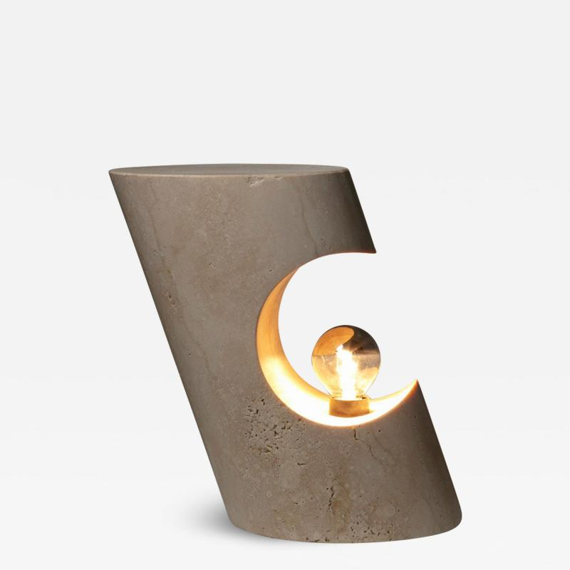 Sormani Travertine Table Lamp by Giuliano Cesari for Sormani