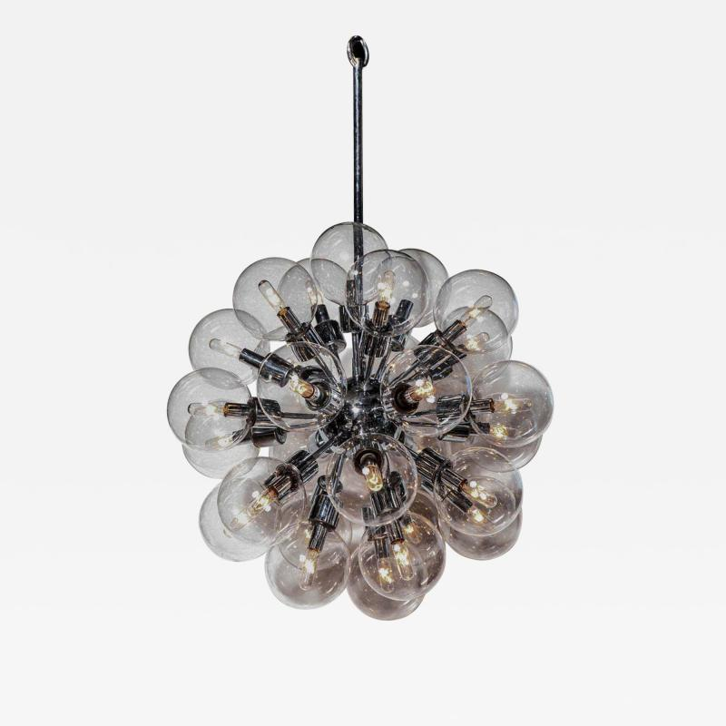 Staff Leuchten Motoko Ishii for Staff Chrome Pendant with Twenty Eight Glass Globes 1970s