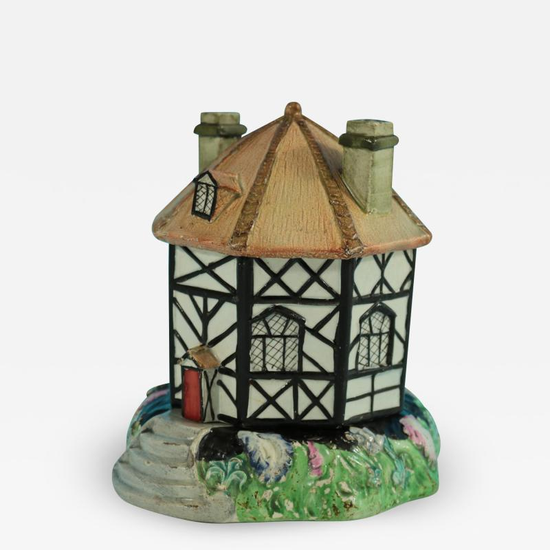 Staffordshire Staffordshire Pearlware Octagonal Cottage Pastille Burner