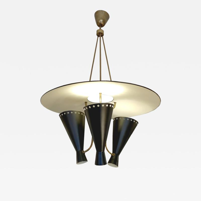 Stilnovo 1950 Italian chandelier in the taste os Stilnovo
