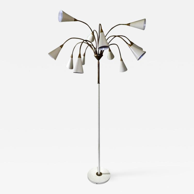 Stilnovo Medusa 12 Shade Floor Lamp in the Style of Stilnovo