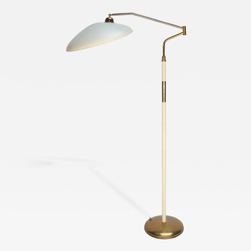 Stilnovo Metal and Brass 1960s Floor Lamp in the Style of Stilnovo