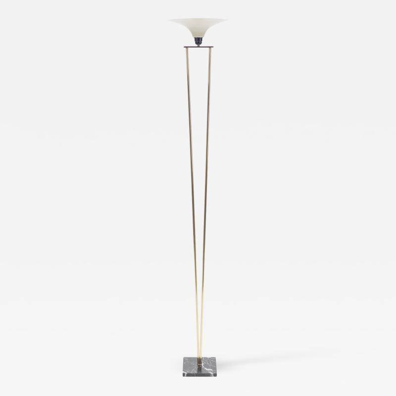 Stilnovo Mid century Stilnovo brass and opaline floor lamp 1960 s