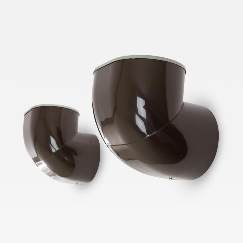 Stilnovo Pair of brown Gomito Wall Lamps by Gae Aulenti for Stilnovo 1970s