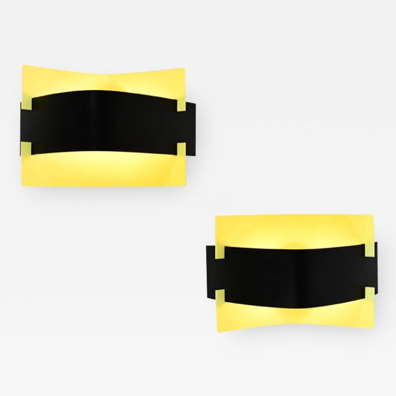 Stilnovo Rare pair of wall lights