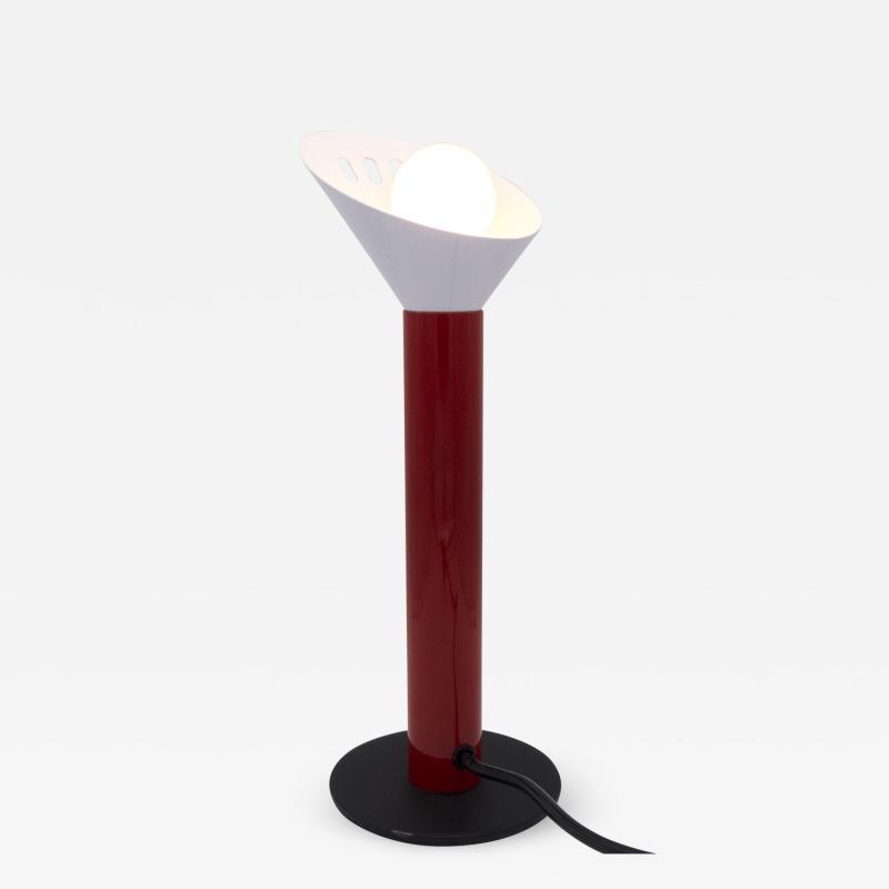Stilnovo Red Postmodern Table Lamp 1980s