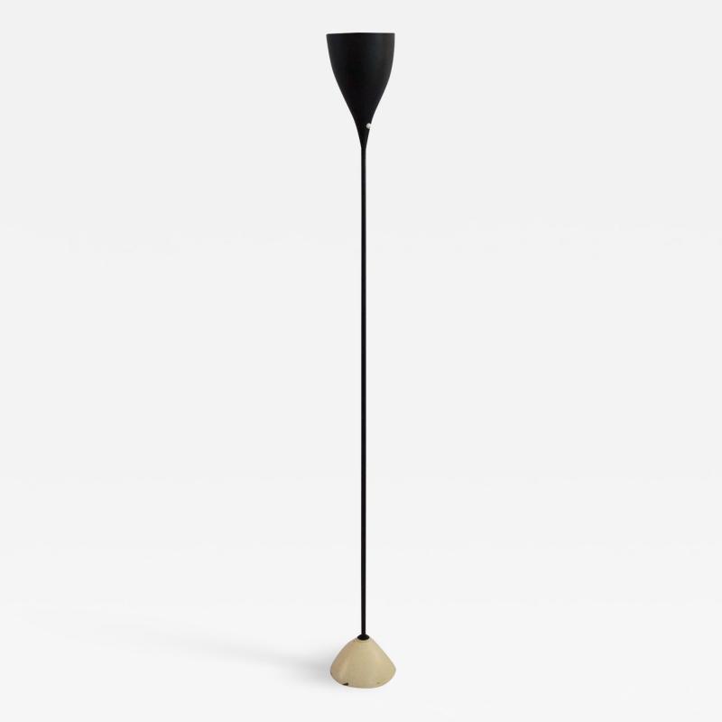 Stilnovo Stilnovo Floor Lamp in Lacquered Metal Black and White