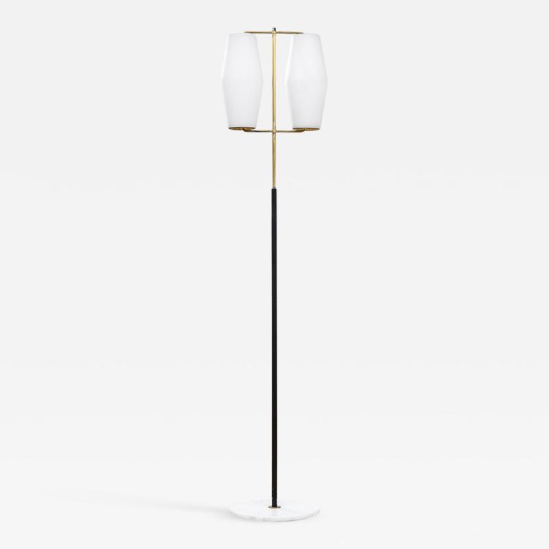 Stilnovo Stilnovo Floor Lamp with Diffusers in Opal Glass and Base in Marble