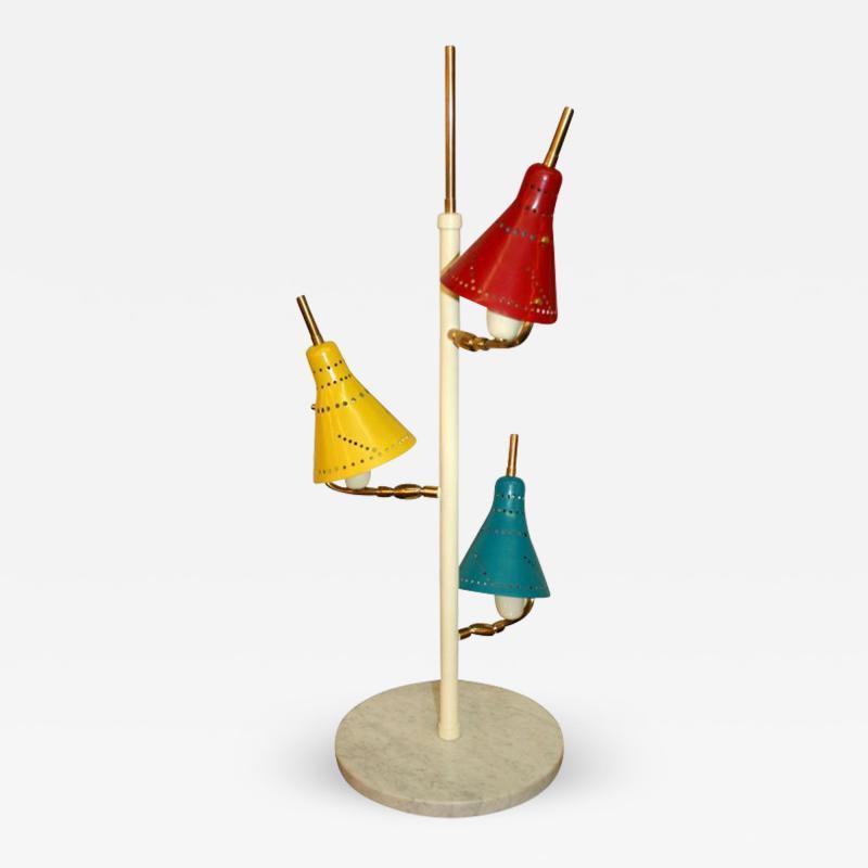 Stilnovo Stilnovo Three Arm Table Lamp Italy 1950