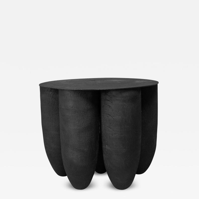 Studio Arno Declercq Arno Declercq Black Senufo Low Coffee or Side Table