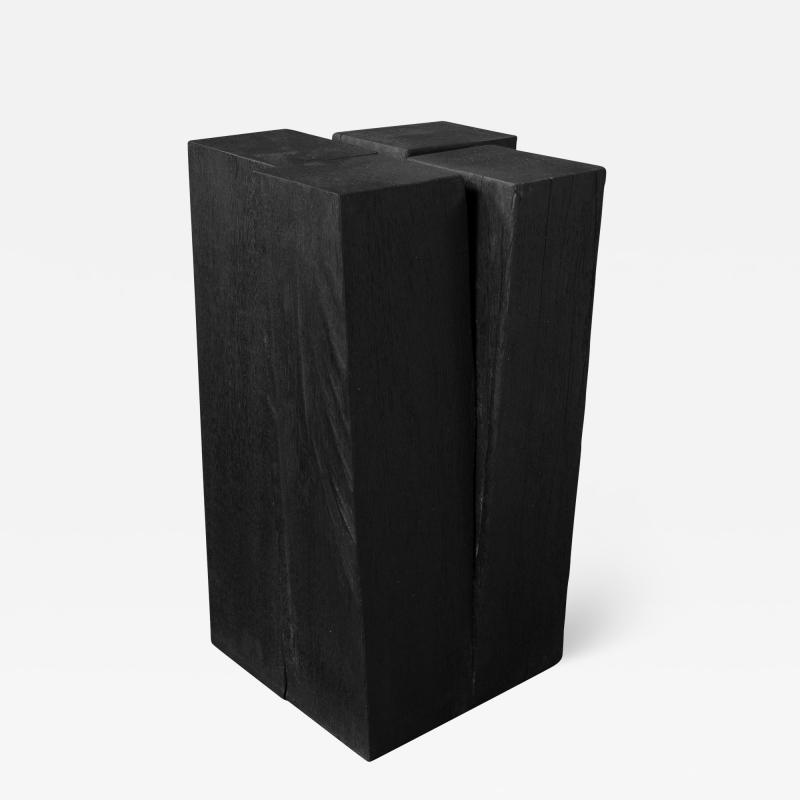 Studio Arno Declercq Arno Declercq Iroko Wood Four Legs Side Table or Stool