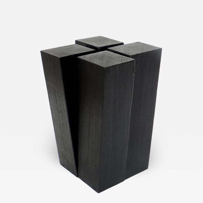 Studio Arno Declercq Studio Arno Declercq Iroko Wood Four Legs Stool or Side Table