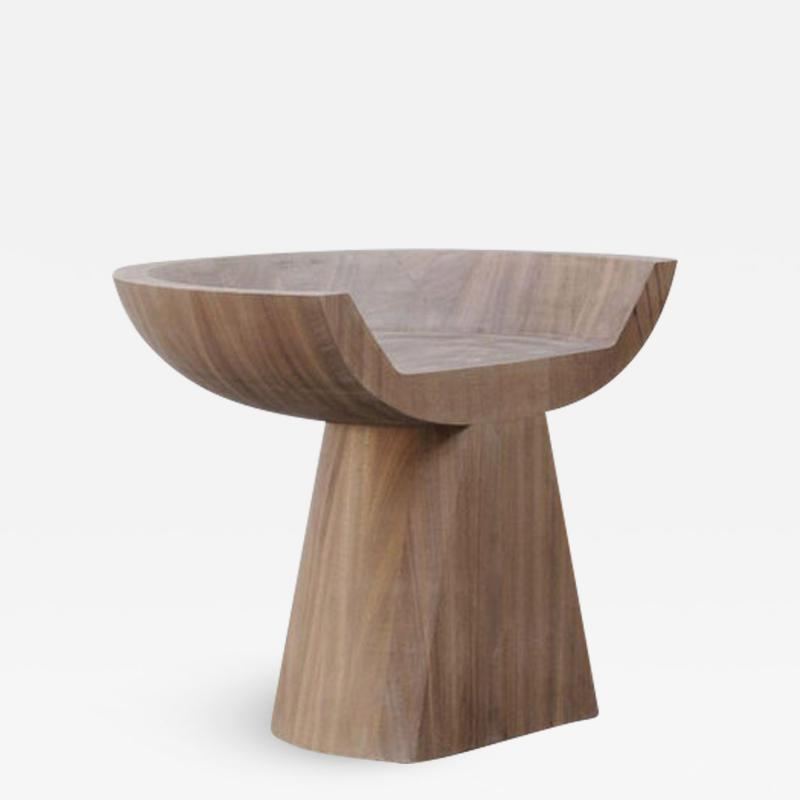 Studio Arno Declercq Throne in African Walnut by Arno Declercq