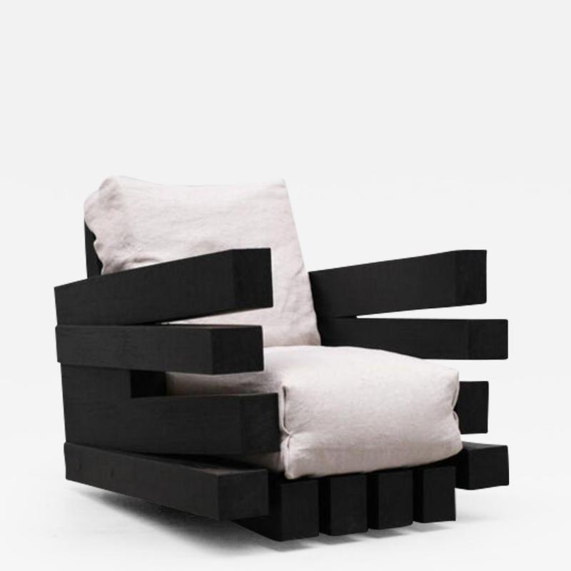 Studio Arno Declercq Zoumey Armchair in Iroko Wood by Arno Declercq