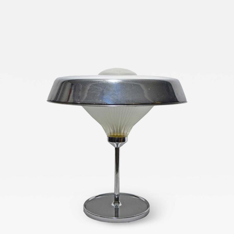 Studio BBPR 1960S CHROME METAL TABLE LAMP BY STUDIO BBPR