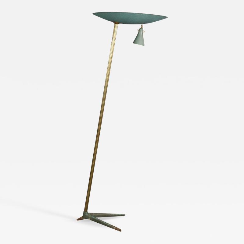Studio BBPR Floor Lamp Midcentury Attributed to BBPR Studio in Brass and Iron 1940s
