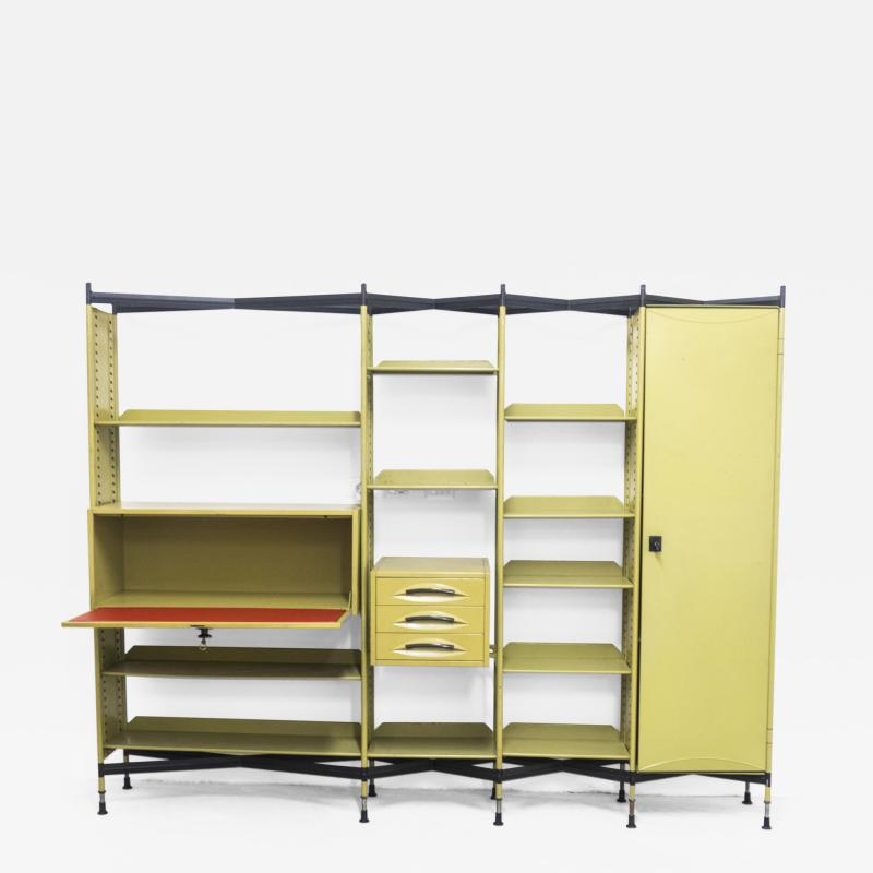 Studio BBPR Spazio Shelving System with Lockers and Drawers for Olivetti 1960s