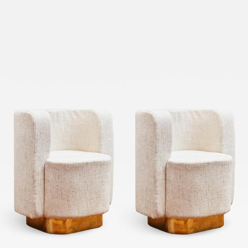 Studio Glustin Pair Of Armchairs by Studio Glustin
