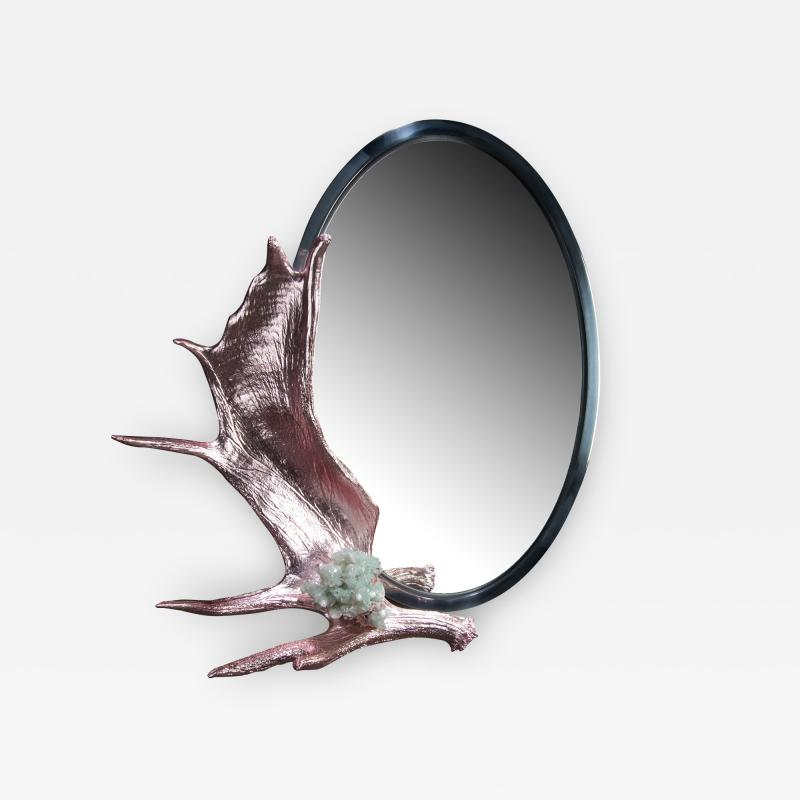 Studio Greytak Pink Chromed Moose Paddle Mirror