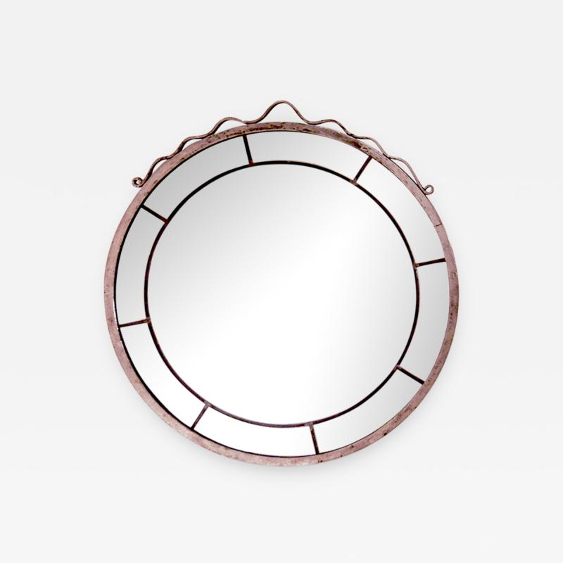 Svenskt Tenn Round Swedish Grace Hand Blown Mirror in the Style of Svenskt Tenn