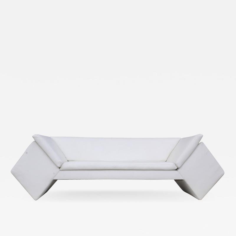 Thayer Coggin David Snyder For Thayer Coggin Modernist Leather Sofa