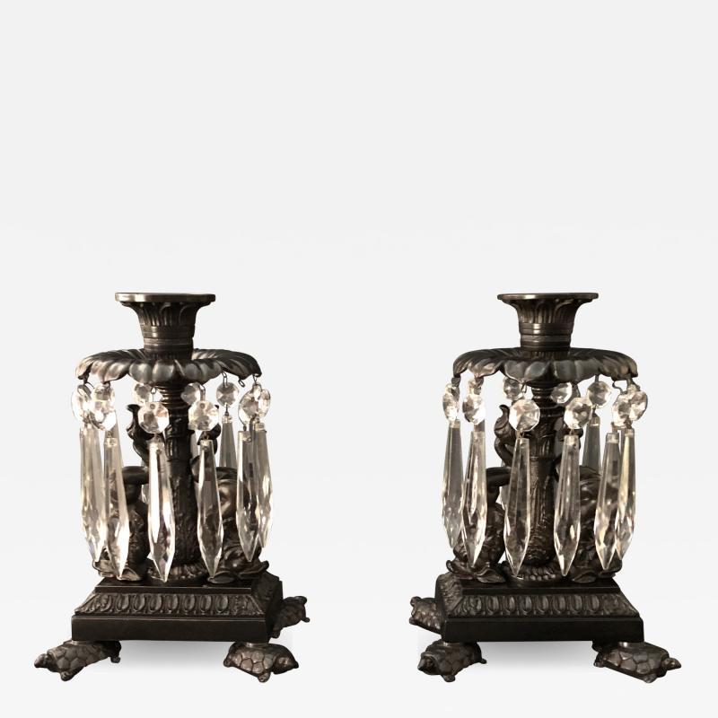 Thomas Messenger Sons A Pair of Regency Candlesticks