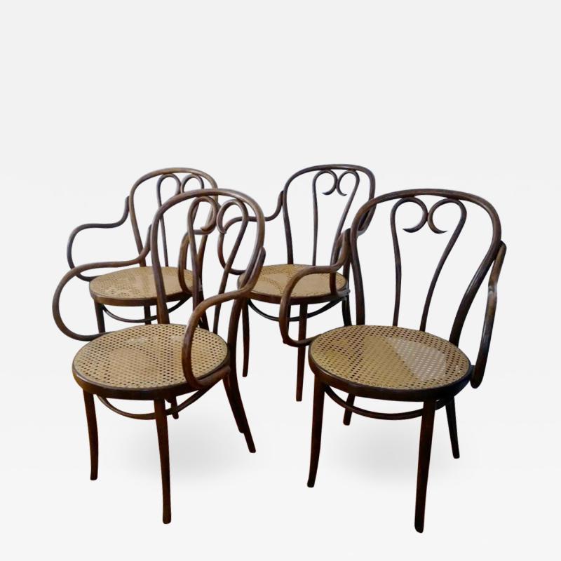 Thonet Set of Four Thonet ZPM Radomsko Bentwood Chairs