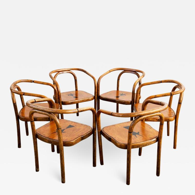 Thonet THONET ARMCHAIRS WITH RAM INLAY SEAT