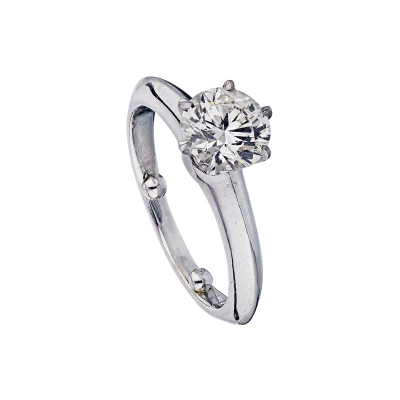 Tiffany Co TIFFANY CO 1 09 CARAT ROUND DIAMOND D SI1 GIA RING