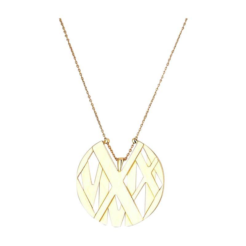 Tiffany Co TIFFANY CO 18K YELLOW GOLD ATLAS LARGE MODEL NECKLACE