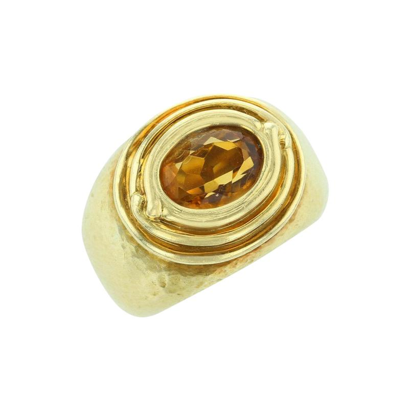 Tiffany Co TIFFANY CO JEAN SCHLUMBERGER OVAL CITRINE 18K YELLOW GOLD RING