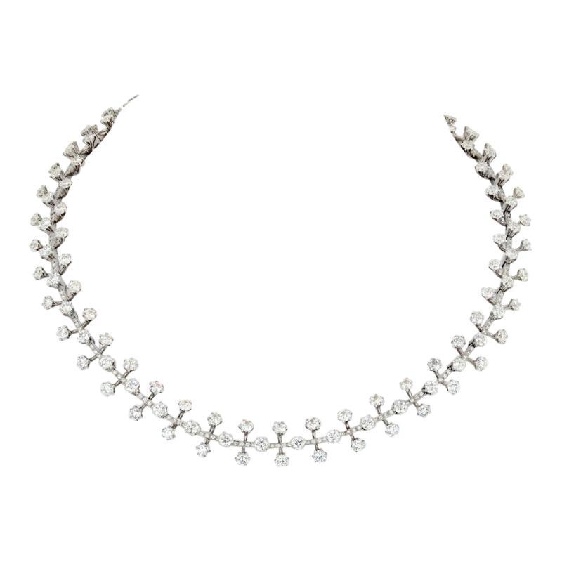 Tiffany Co TIFFANY CO PLATINUM 20 CARAT DIAMOND NECKLACE