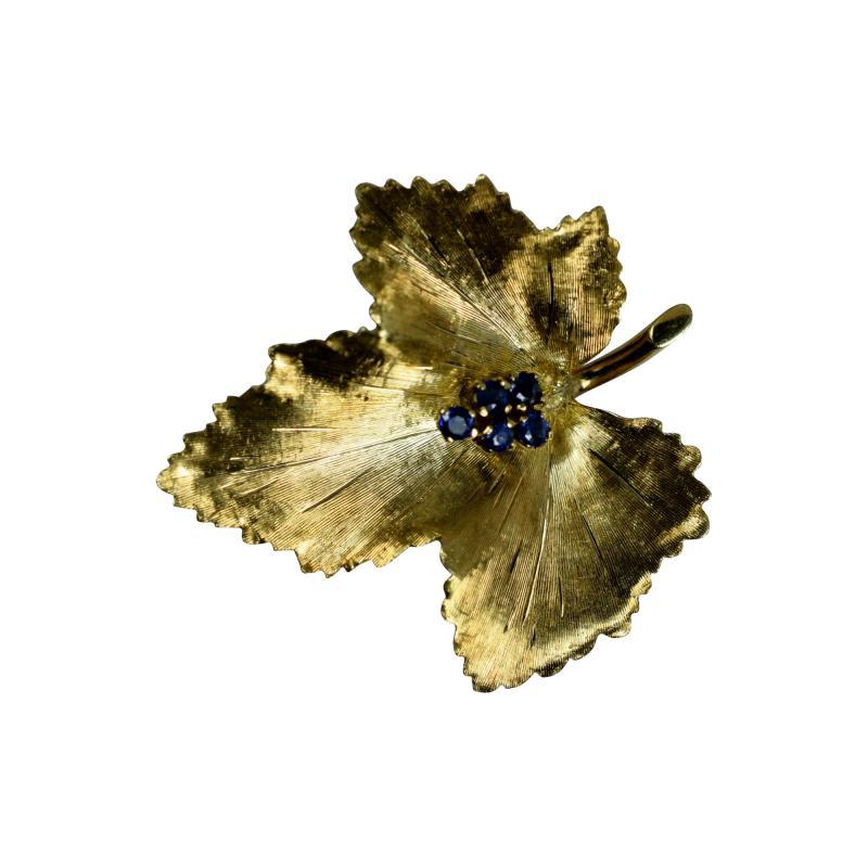 Tiffany Co Tiffany Brooch in the form of a Leaf