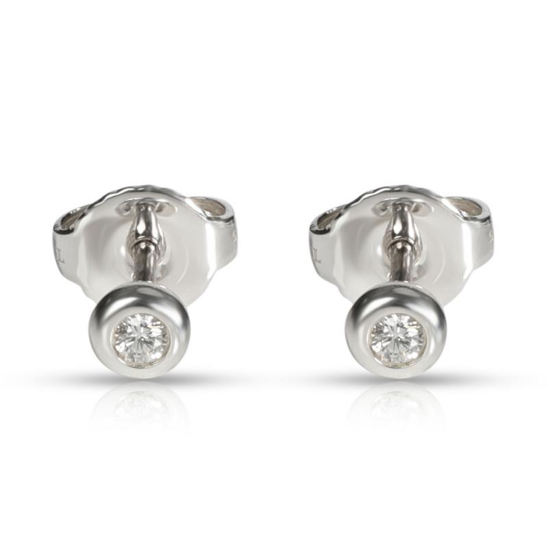 Tiffany Co Tiffany Co Else Peretti Diamond Stud Earring in Sterling Silver 0 06 CTW