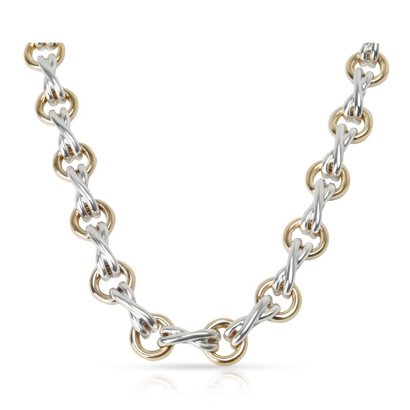 Tiffany Co Tiffany Co Paloma Picasso X O Necklace in 18K Yellow Gold Sterling Silver