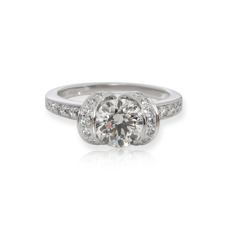 Tiffany Co Tiffany Co Ribbon Diamond Engagement Ring in Platinum H VS1 1 32 CTW