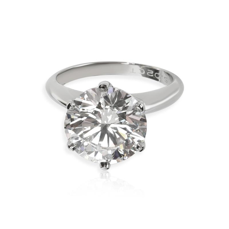 Tiffany Co Tiffany Co Solitaire Diamond Engagement Ring in Platinum D VS1 5 02 CT