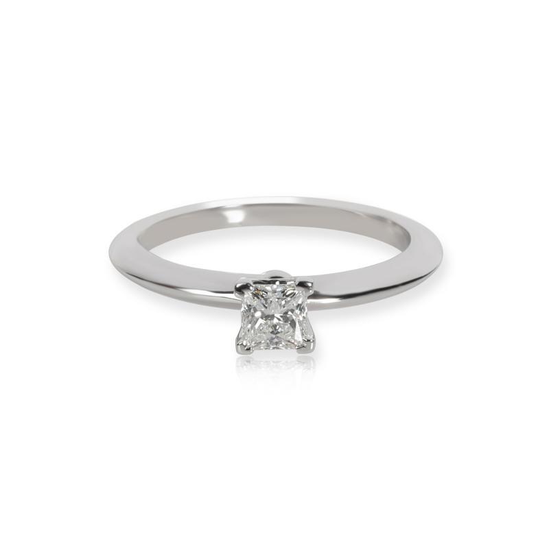 Tiffany Co Tiffany Co Solitaire Diamond Engagement Ring in Platinum E VS2 0 31 CTW