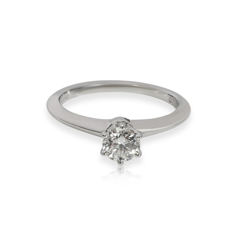 Tiffany Co Tiffany Co Solitaire Diamond Engagement Ring in Platinum H VS1 0 46 CTW