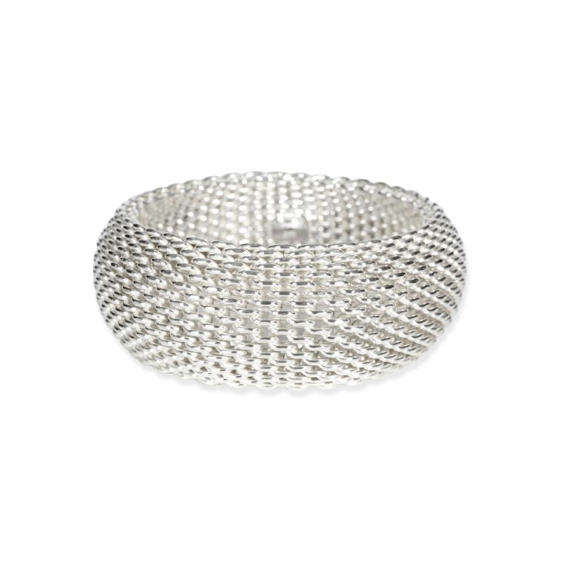 Tiffany Co Tiffany Co Somerset Mesh Bangle in Sterling Silver