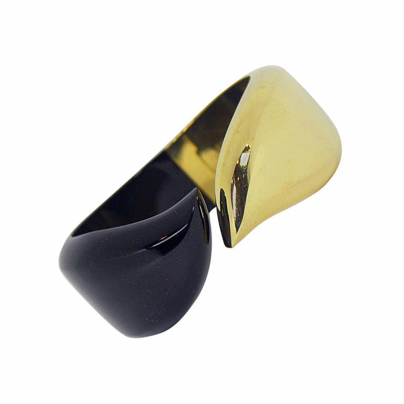 Tiffany Co Tiffany and Co Onyx and Gold Bracelet