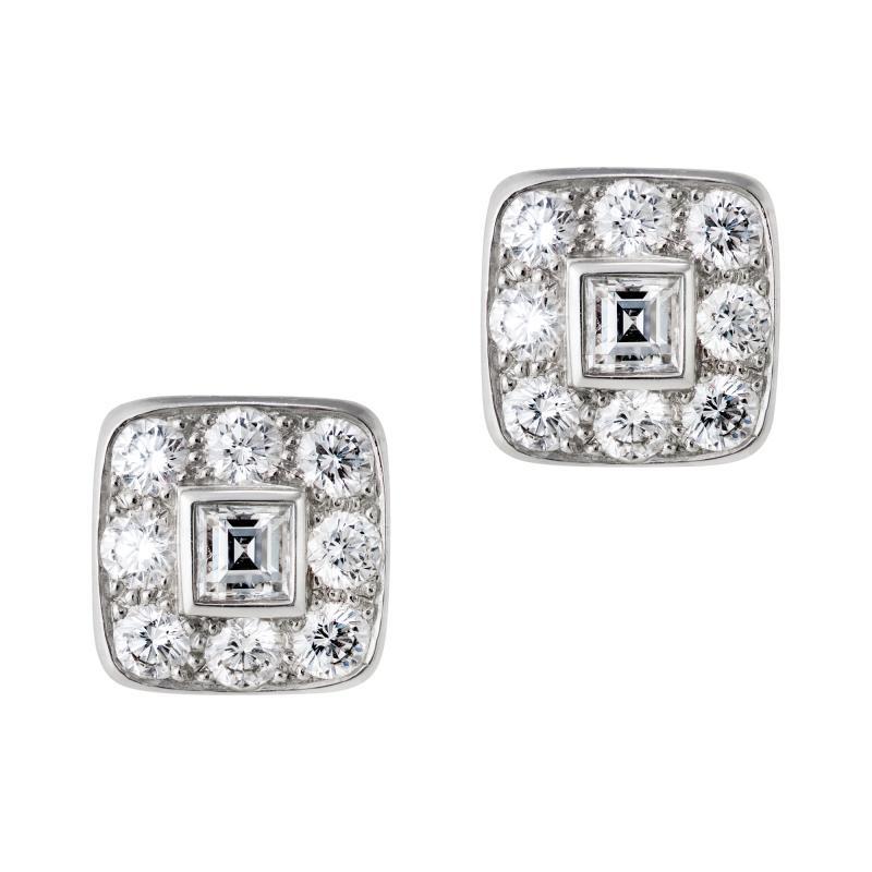 Tiffany Co Tiffany diamond cluster earrings